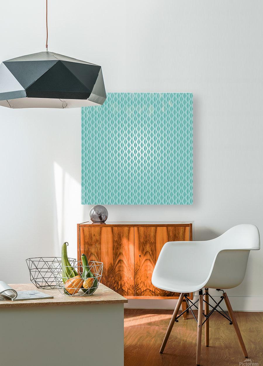 Green Diamond Art  HD Metal print with Floating Frame on Back