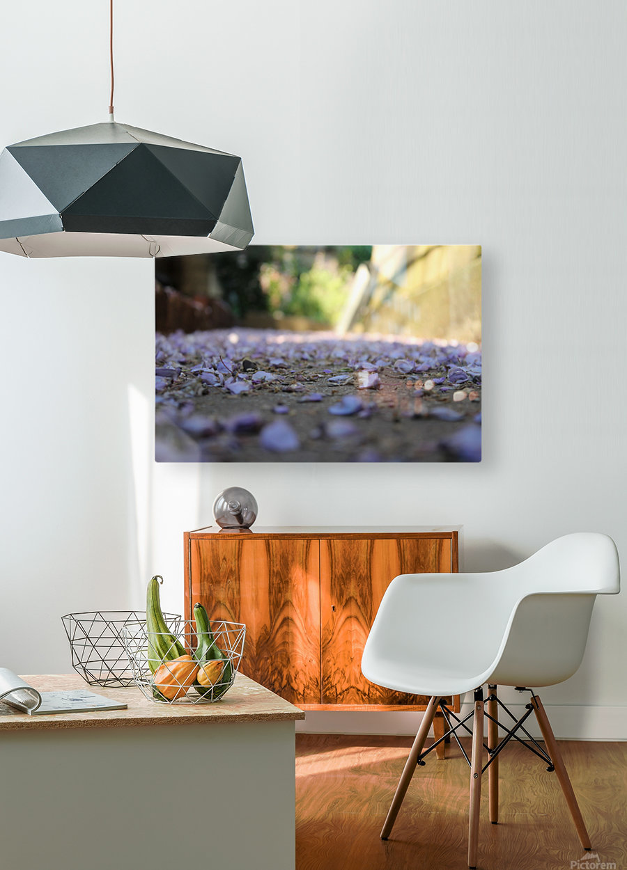 Fall Petals  HD Metal print with Floating Frame on Back