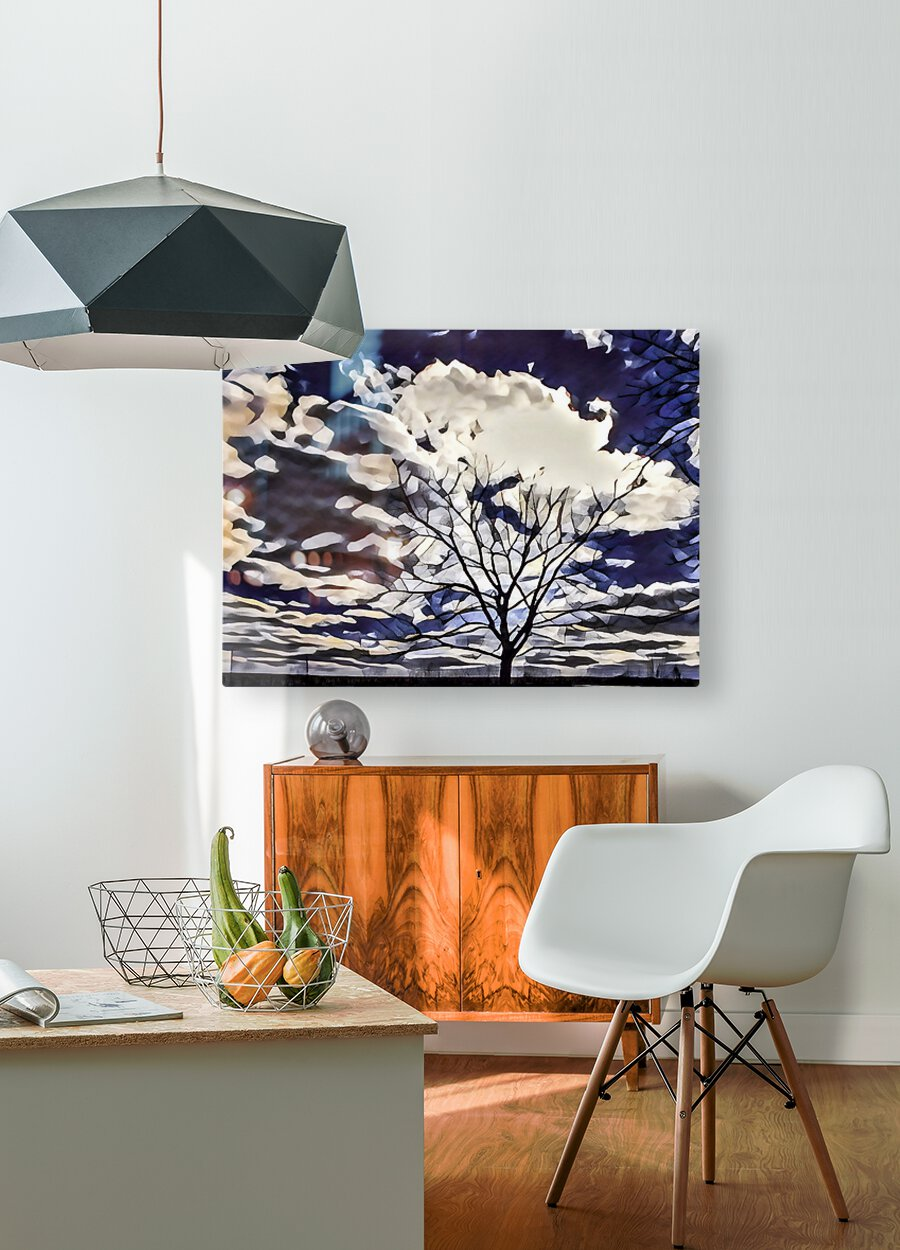 regal tree  HD Metal print with Floating Frame on Back