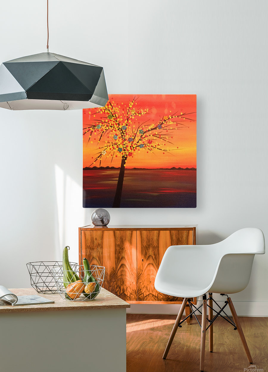 Summer Sunset  HD Metal print with Floating Frame on Back