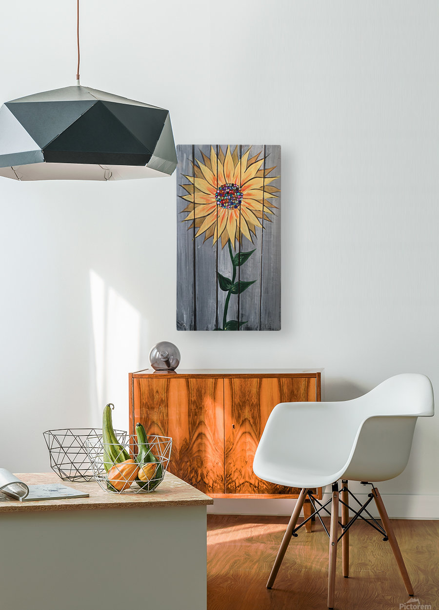 Jeweled Daisy  HD Metal print with Floating Frame on Back