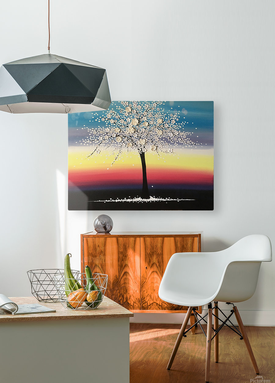 Colorful Blooms  HD Metal print with Floating Frame on Back