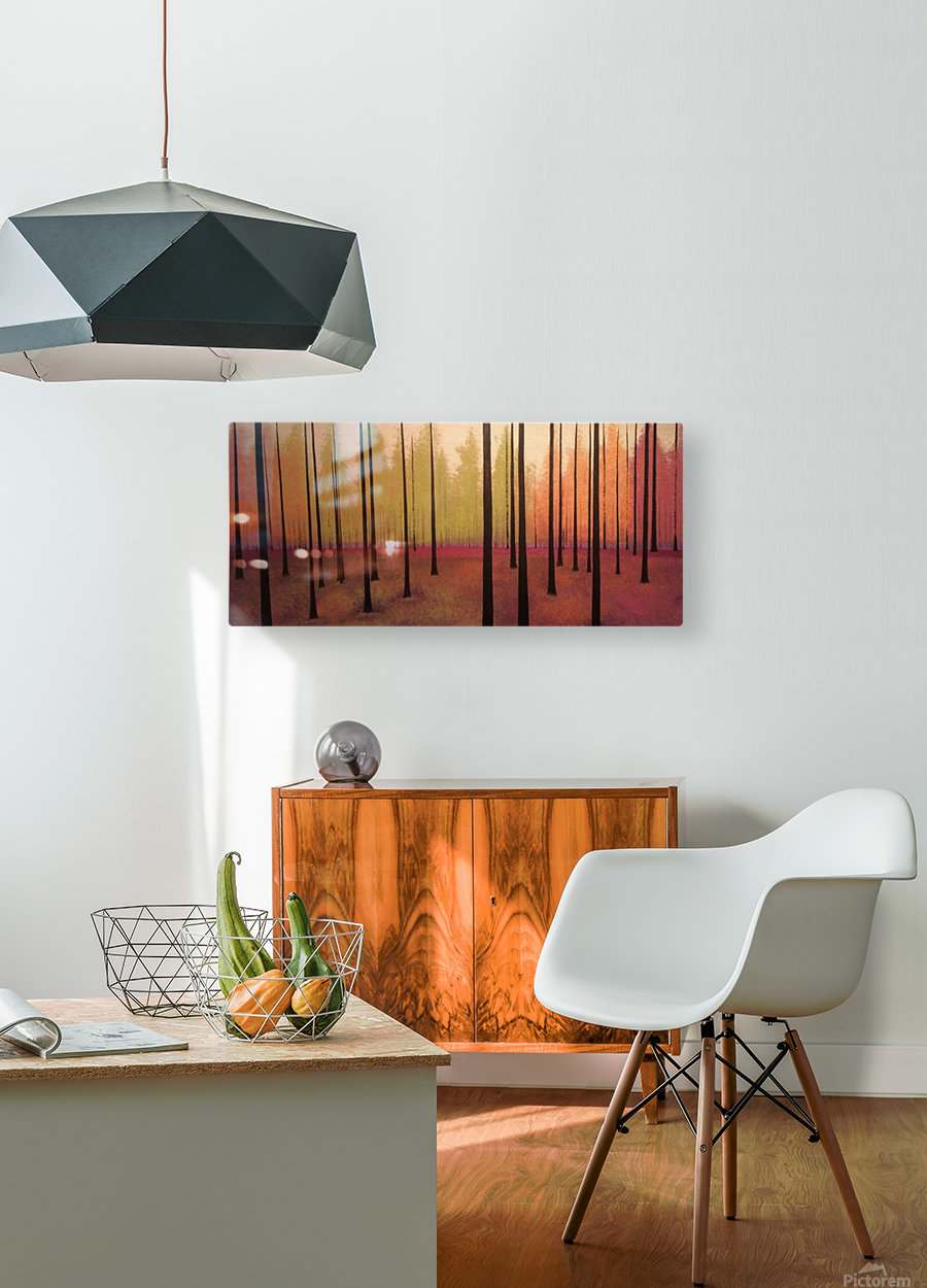 Sherbert Forest  HD Metal print with Floating Frame on Back