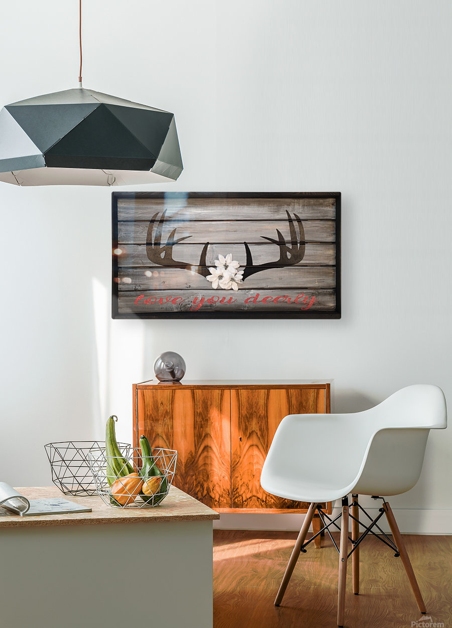 Love You Deerly  HD Metal print with Floating Frame on Back