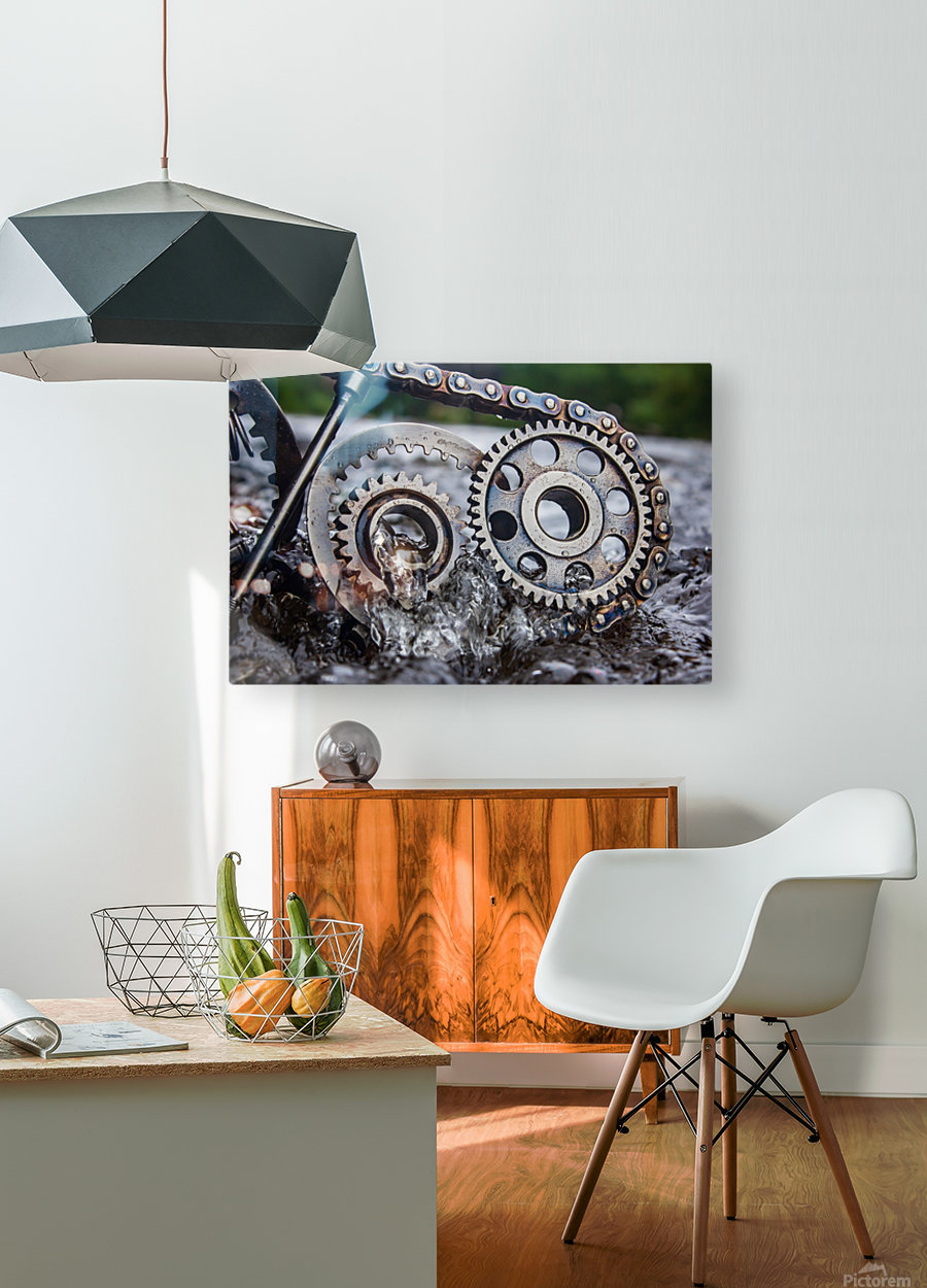Flooded emotions  HD Metal print with Floating Frame on Back
