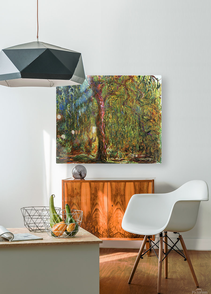 The Willow  HD Metal print with Floating Frame on Back
