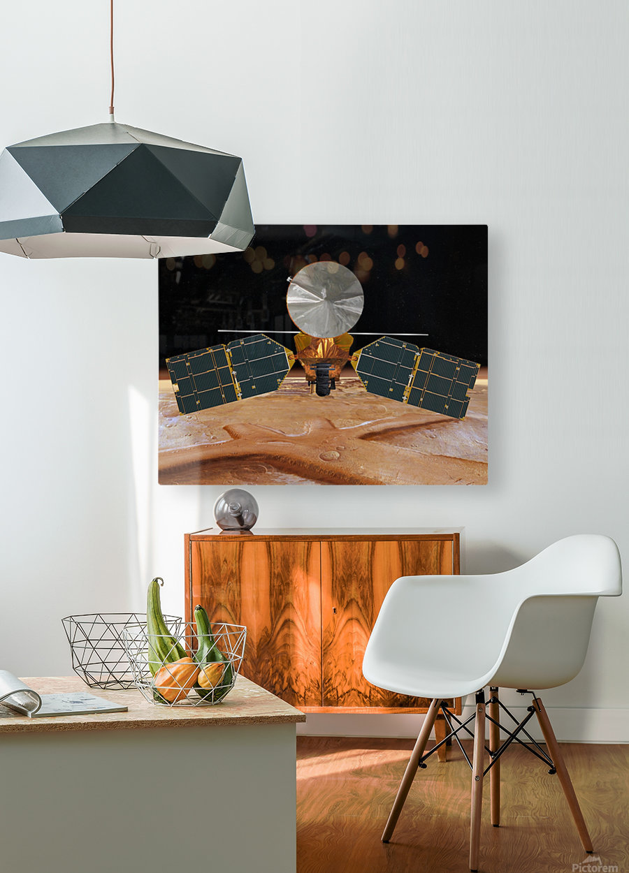 Artists concept of the Mars Reconnaissance Orbiter.  HD Metal print with Floating Frame on Back