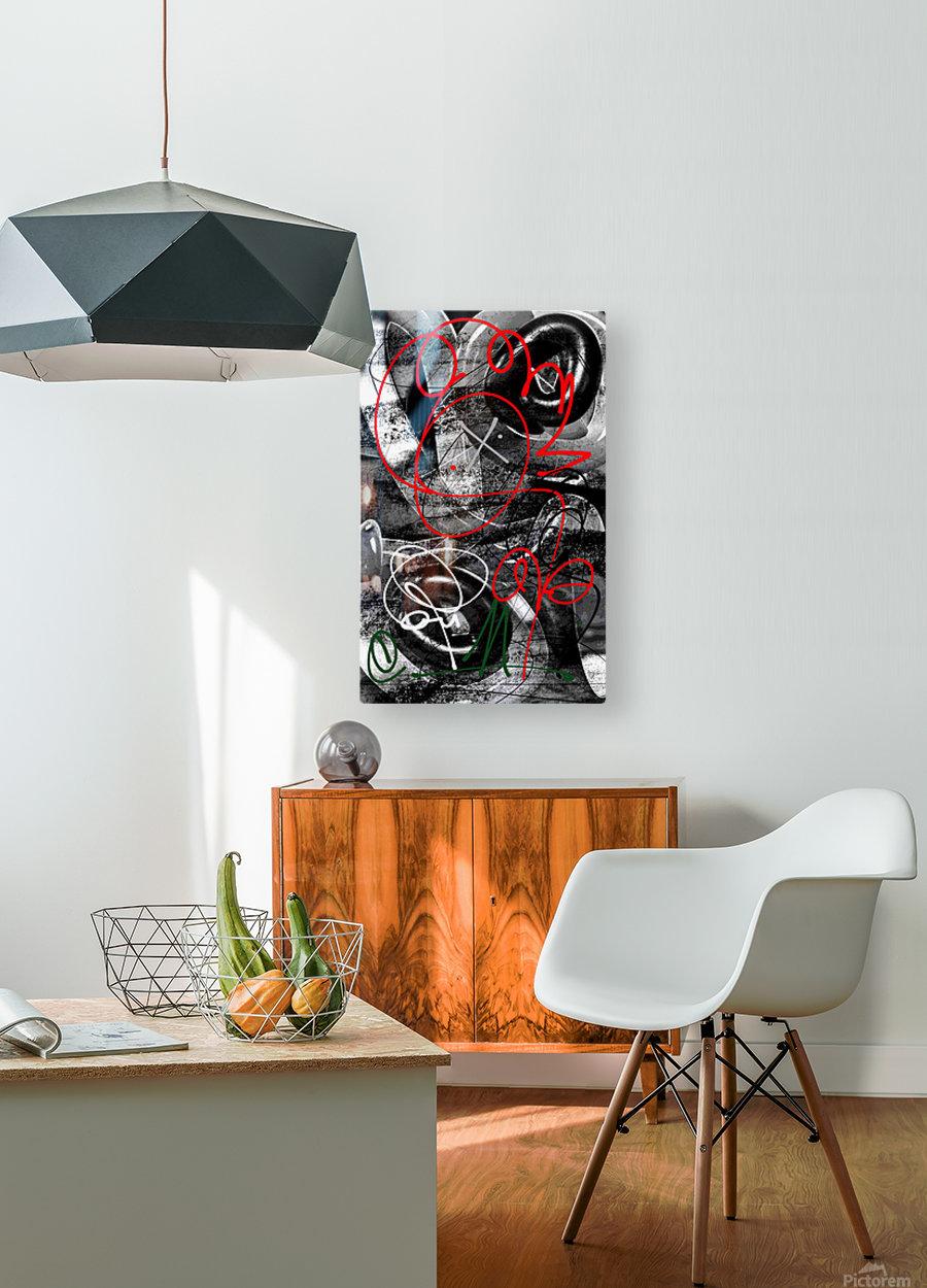 Bad Rose  HD Metal print with Floating Frame on Back