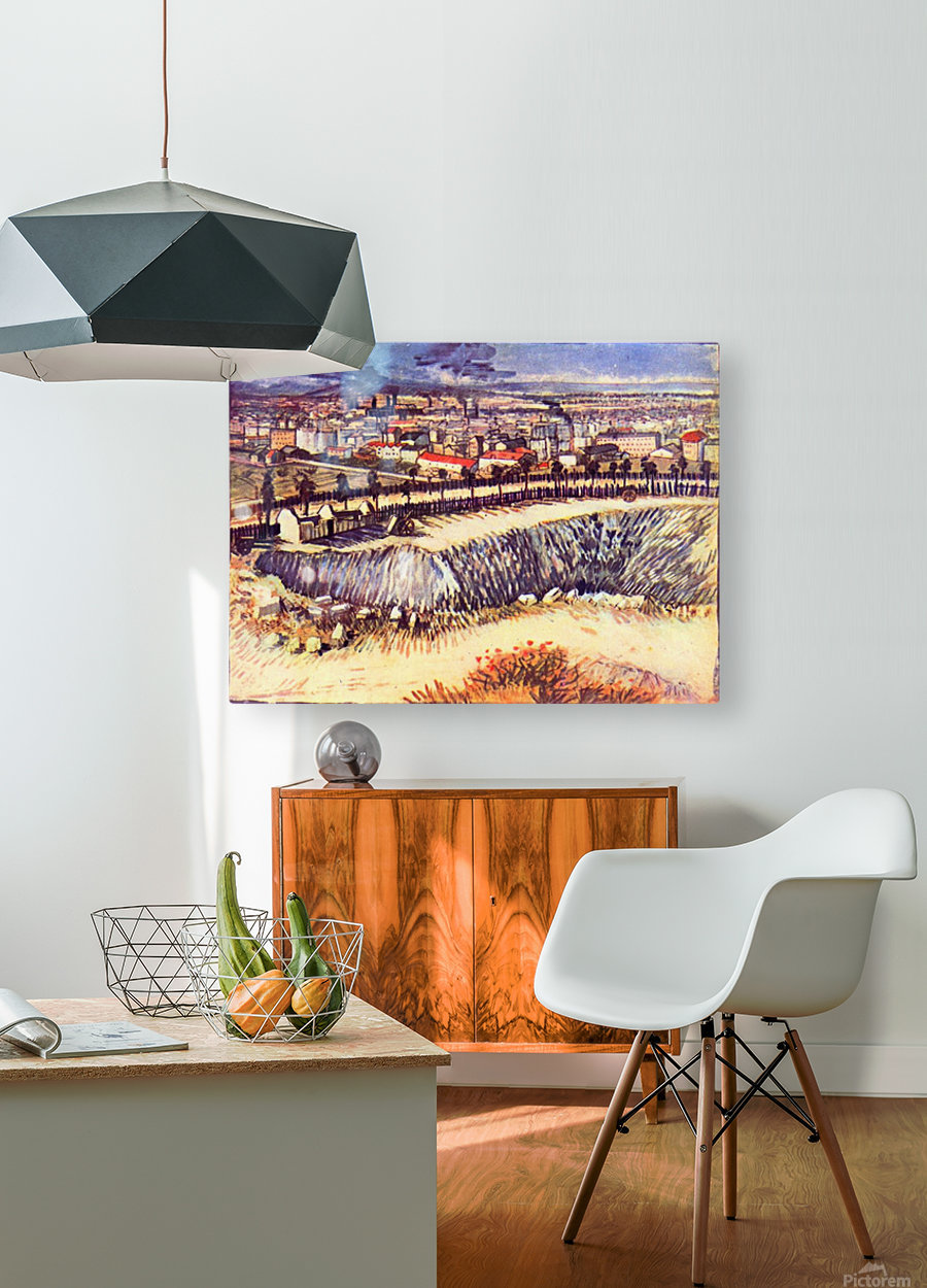 Factory by Van Gogh  HD Metal print with Floating Frame on Back
