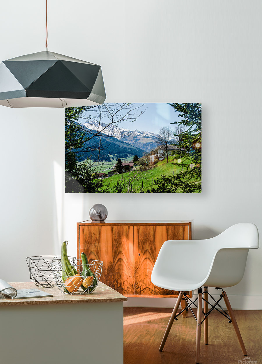 In The Alps  HD Metal print with Floating Frame on Back