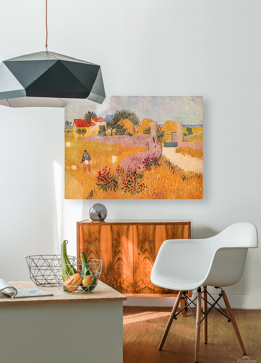 Farmhouse in Provence by Van Gogh  HD Metal print with Floating Frame on Back