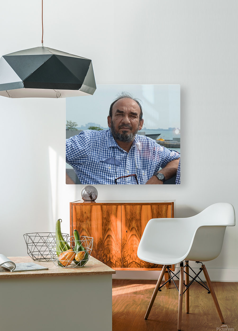 ahson qazi slf  HD Metal print with Floating Frame on Back