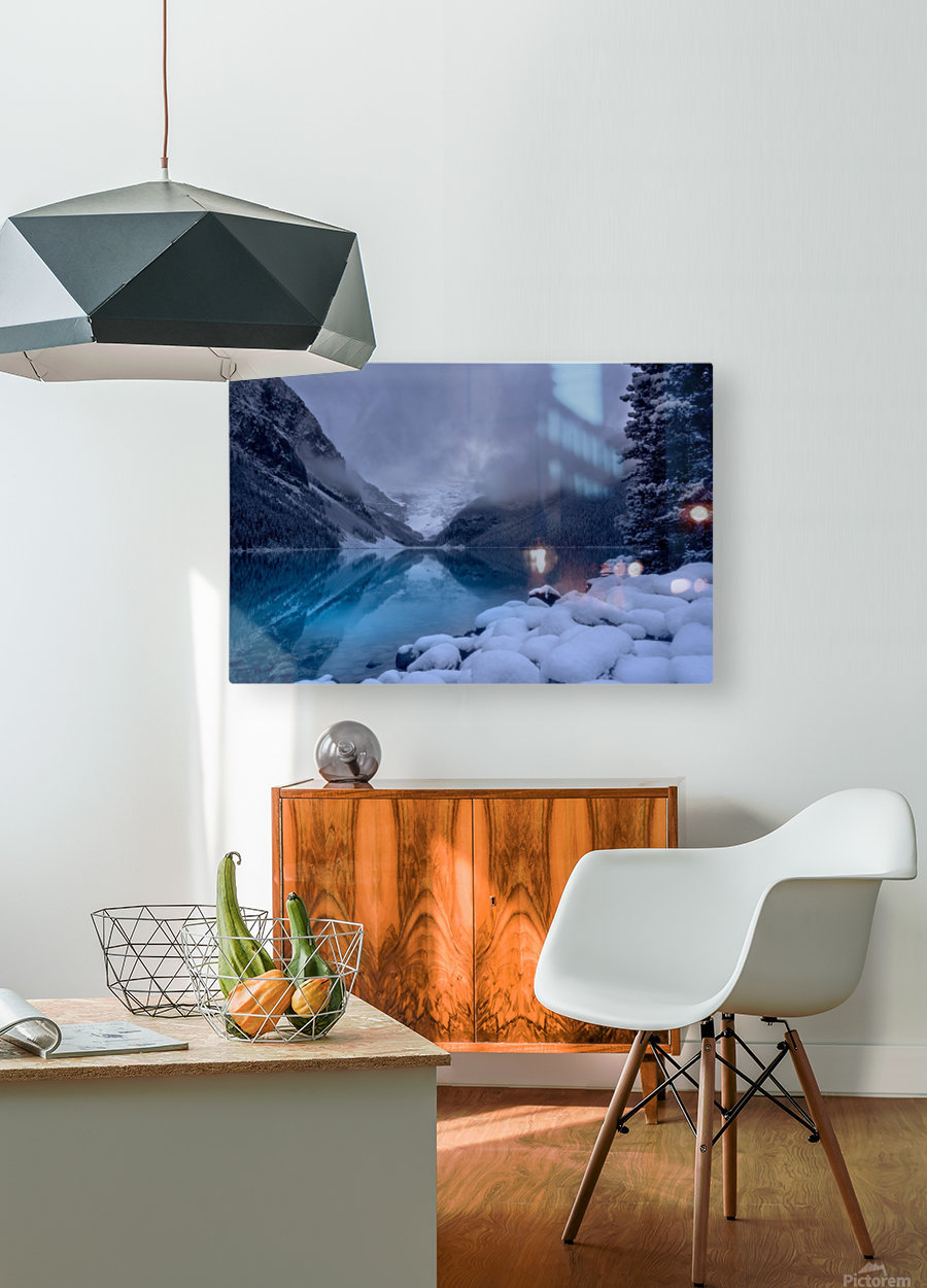 Lake Louise blues  HD Metal print with Floating Frame on Back
