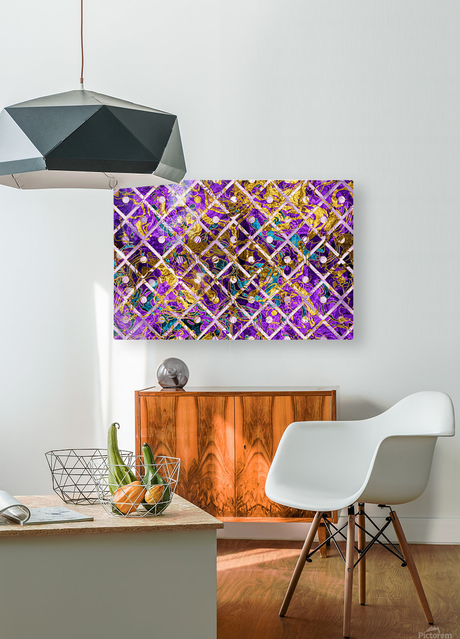 Pattern LXXXII  HD Metal print with Floating Frame on Back