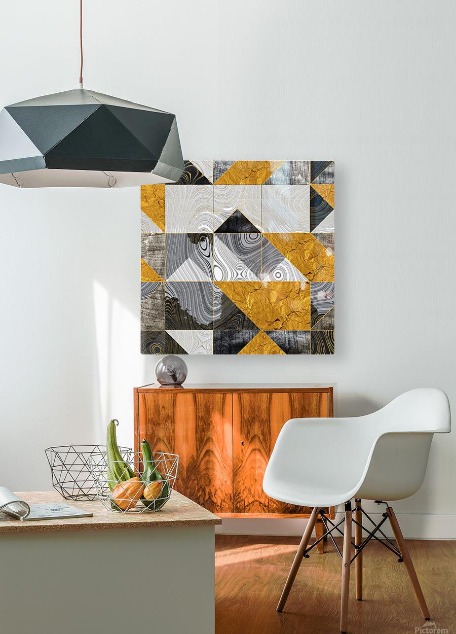 Geometric XXIII  HD Metal print with Floating Frame on Back