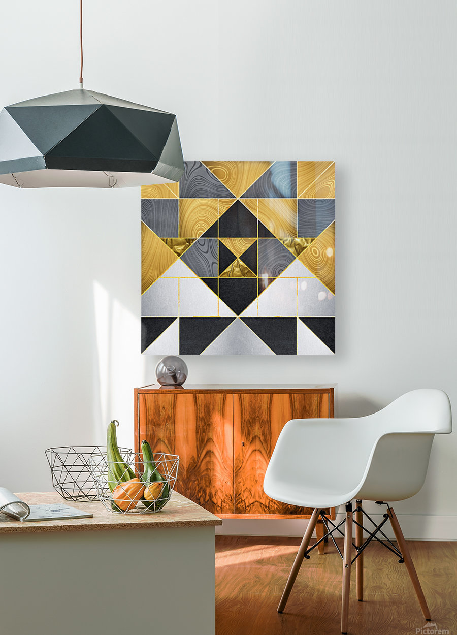 Geometric XXIV  HD Metal print with Floating Frame on Back