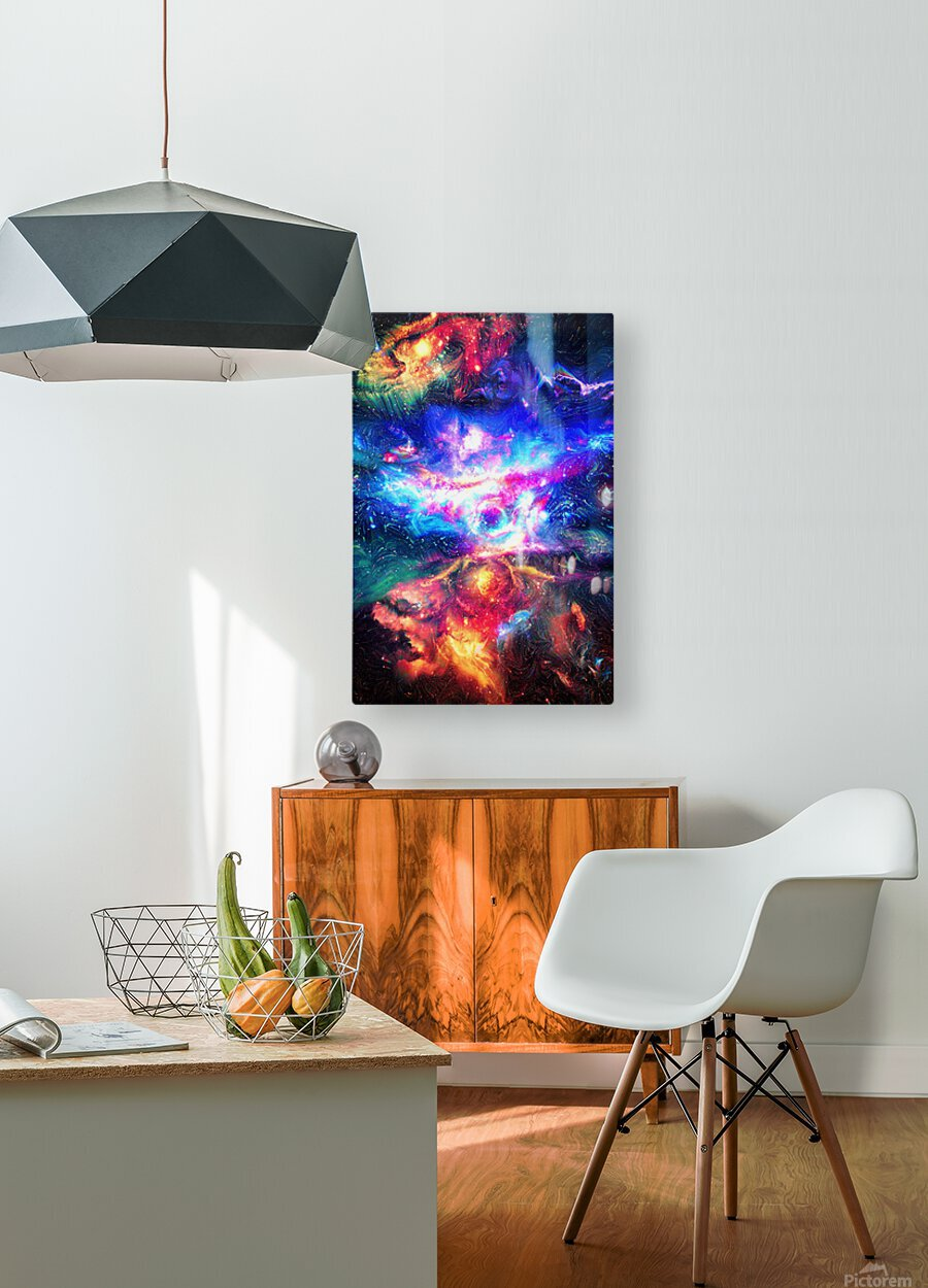 Colorful Galaxy   HD Metal print with Floating Frame on Back