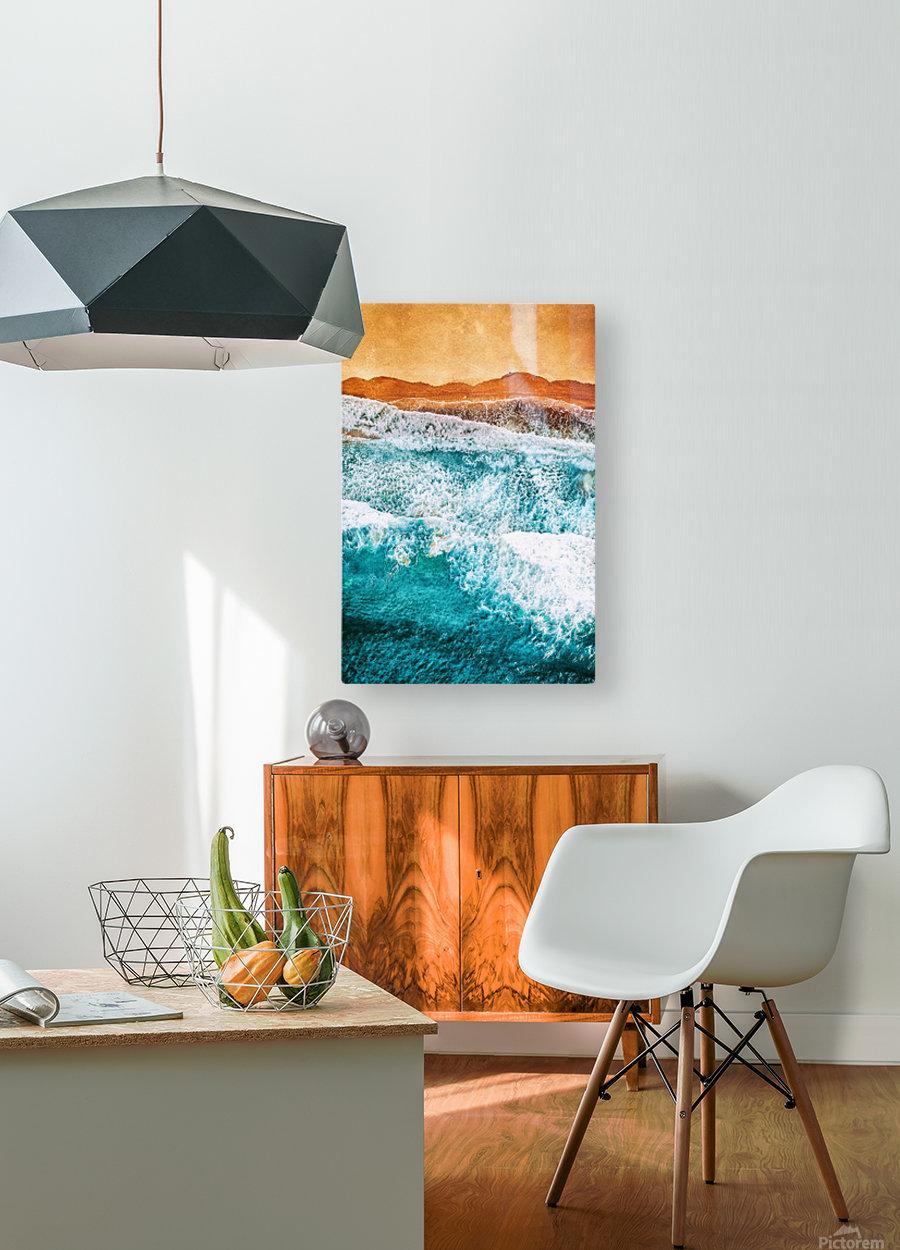Tropical VI - Beach Waves II   HD Metal print with Floating Frame on Back