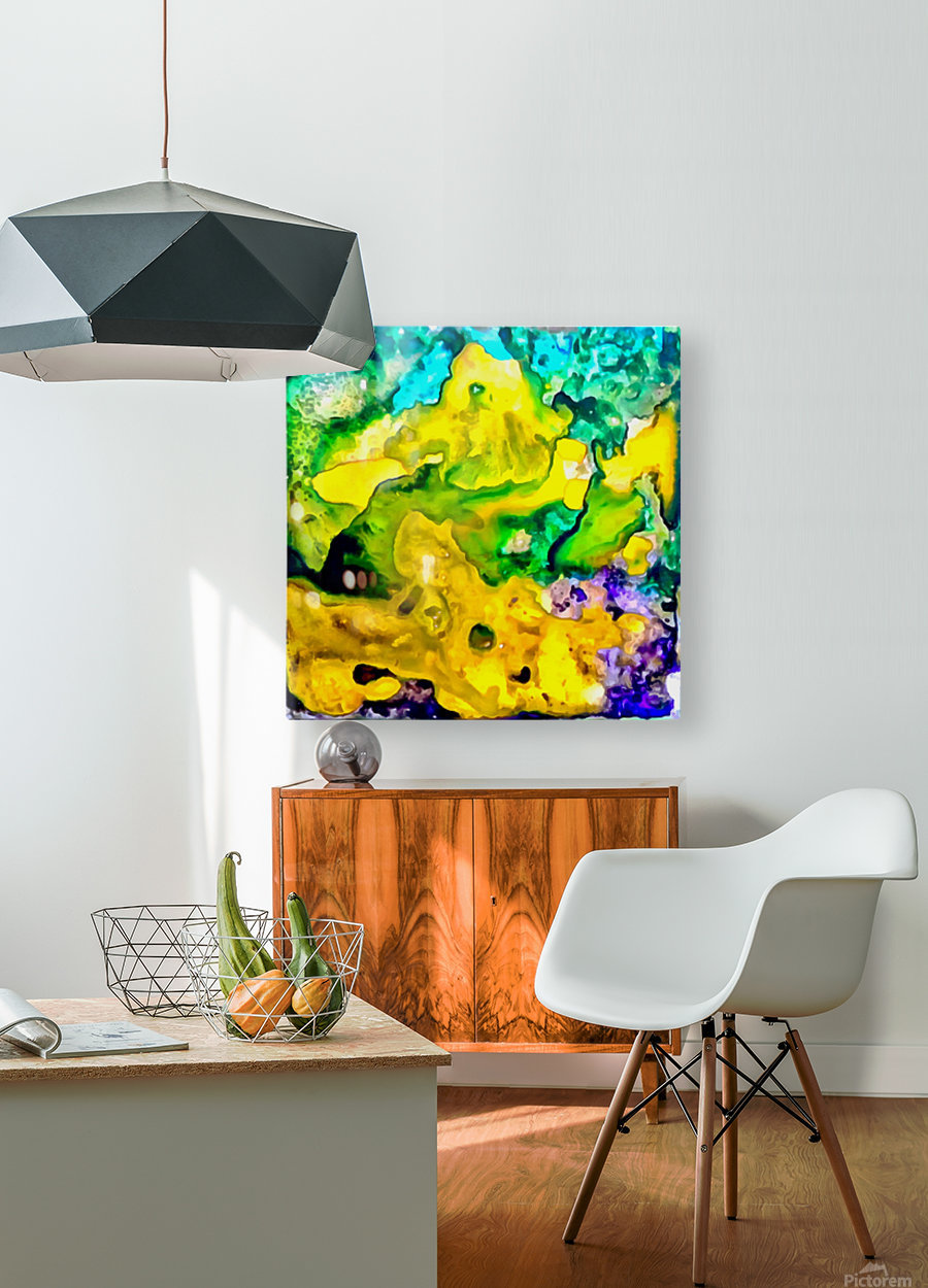 SamAbstractTileAink60  HD Metal print with Floating Frame on Back