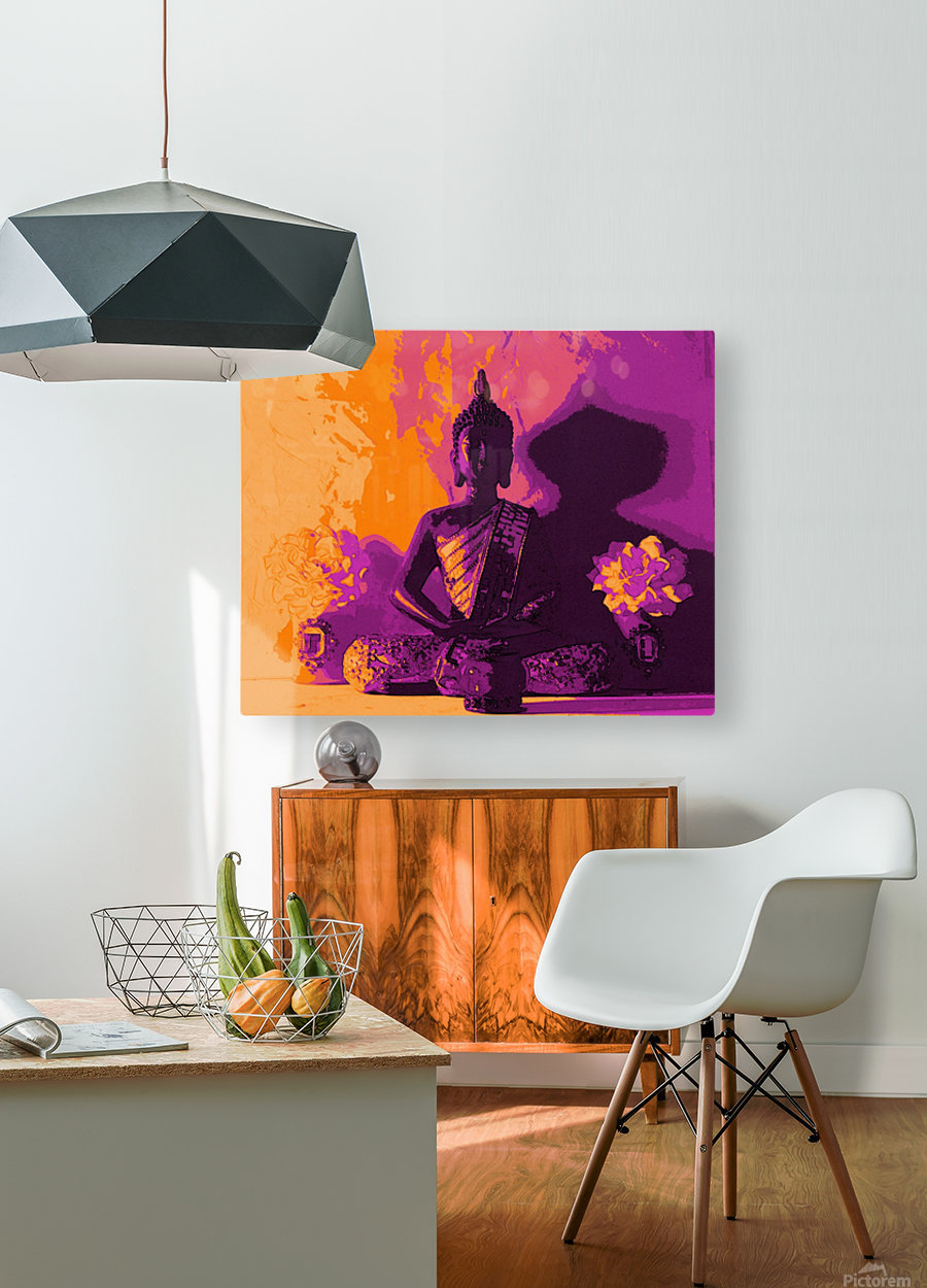 Buddha Altar -- Sunset Colors  HD Metal print with Floating Frame on Back