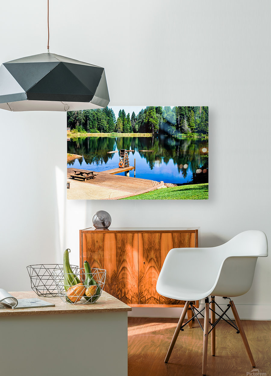 Saturated Scene  HD Metal print with Floating Frame on Back