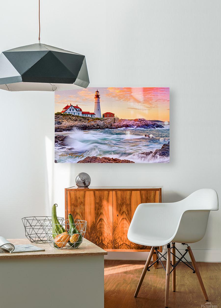 Crashing Waves - APC-113  HD Metal print with Floating Frame on Back