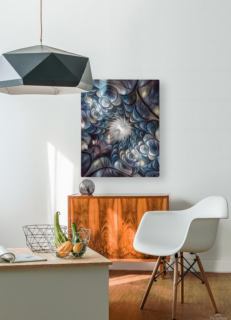 Fractal Design 2  HD Metal print with Floating Frame on Back