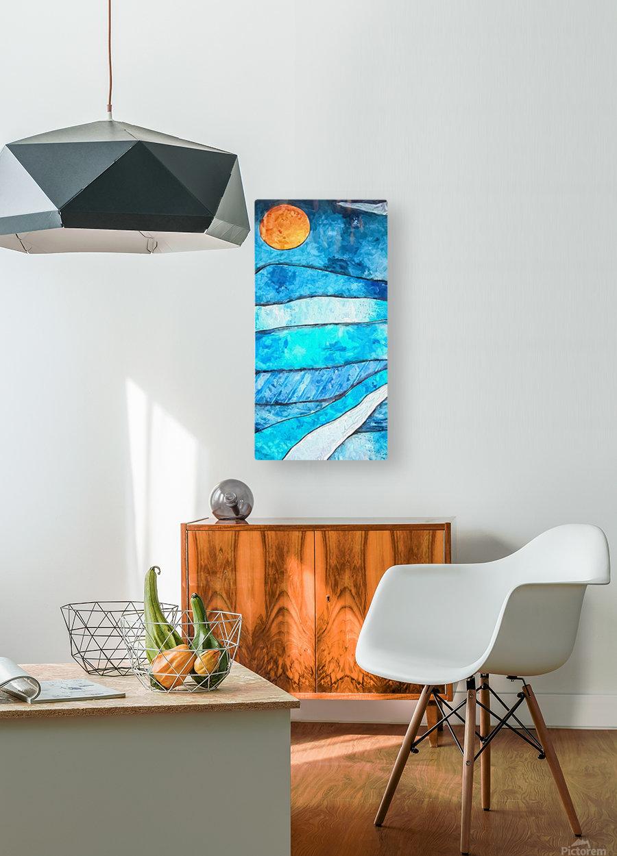 Blue Sunrise  HD Metal print with Floating Frame on Back