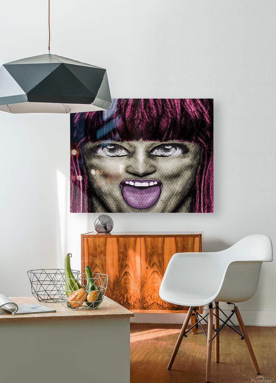 Daring Pop Teen Portrait  HD Metal print with Floating Frame on Back