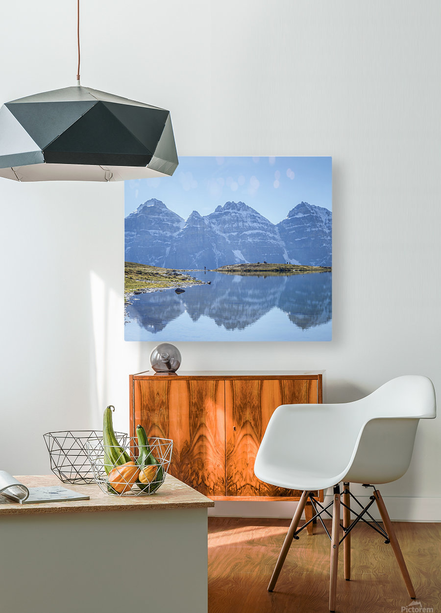 Mountain diaries  HD Metal print with Floating Frame on Back