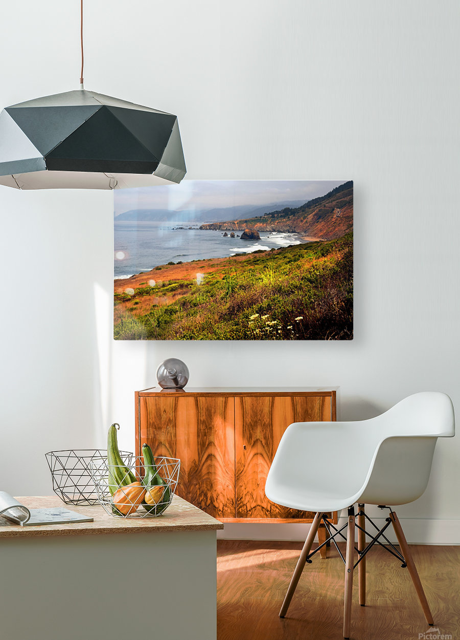 Coastal Views  HD Metal print with Floating Frame on Back