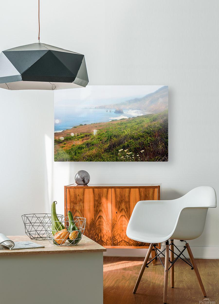 Coastal Views Fog  HD Metal print with Floating Frame on Back