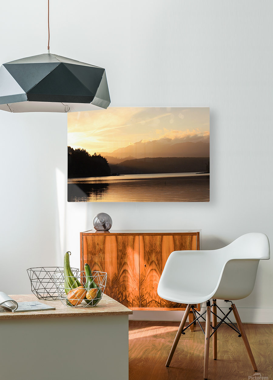 Dewatto glow  HD Metal print with Floating Frame on Back