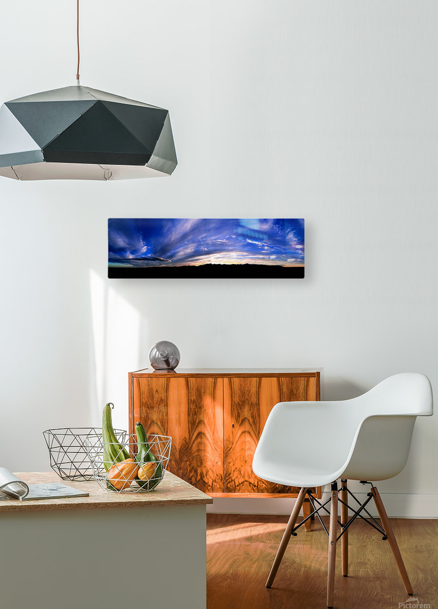 Western Sky Pano  HD Metal print with Floating Frame on Back