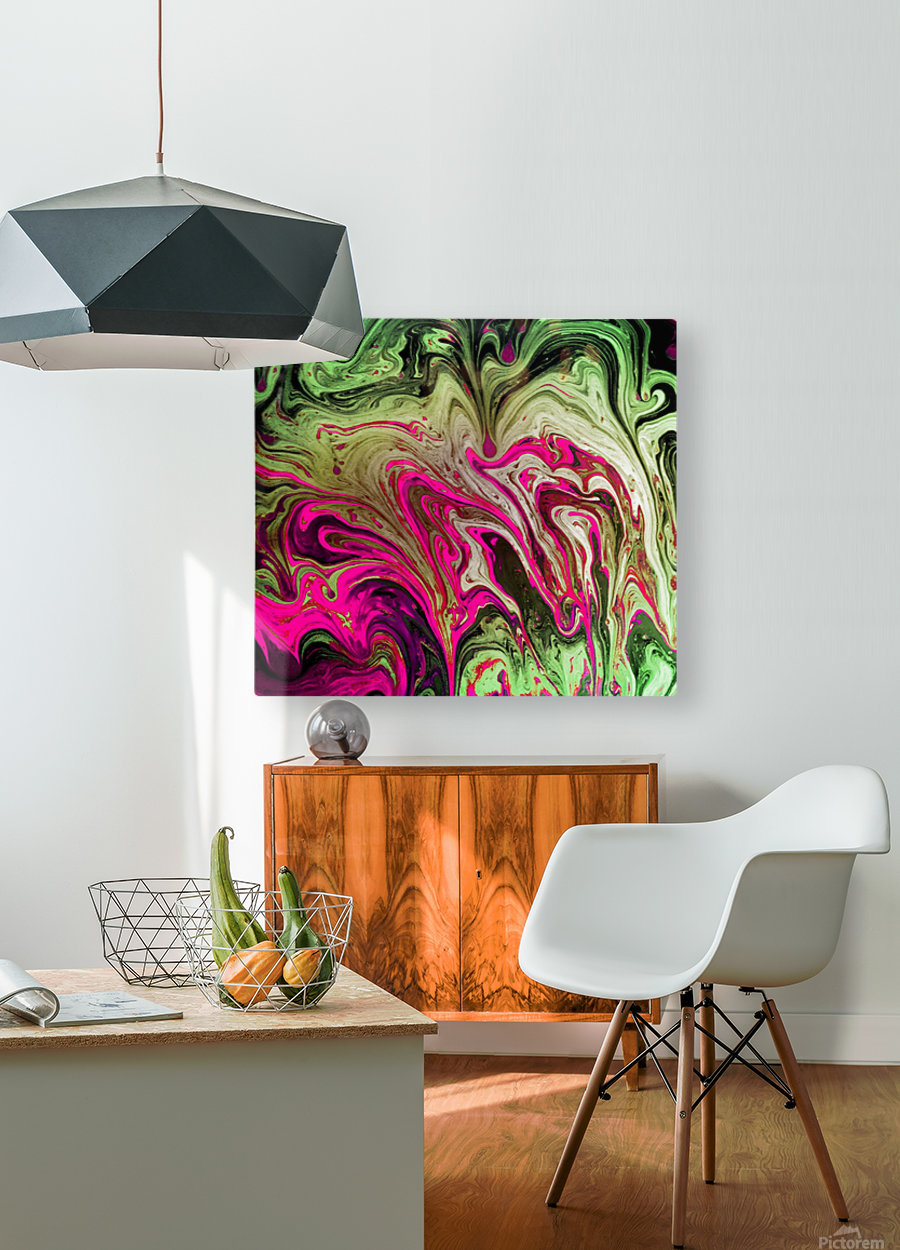 Bubbles Reimagined 76  HD Metal print with Floating Frame on Back
