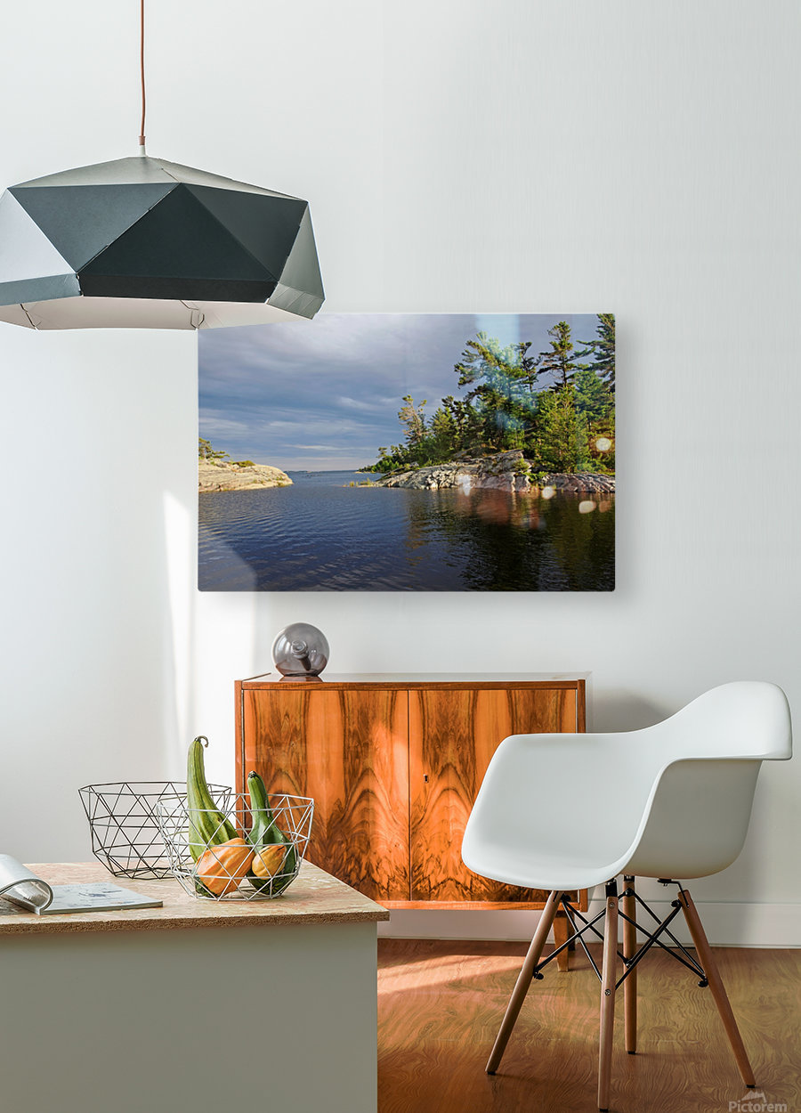 Between Rocky Outcrops To Georgian Bay  HD Metal print with Floating Frame on Back