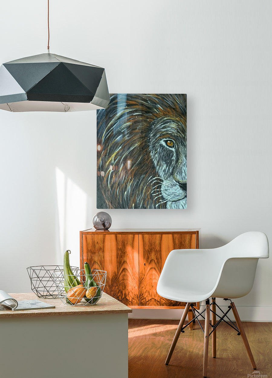 Leo  HD Metal print with Floating Frame on Back