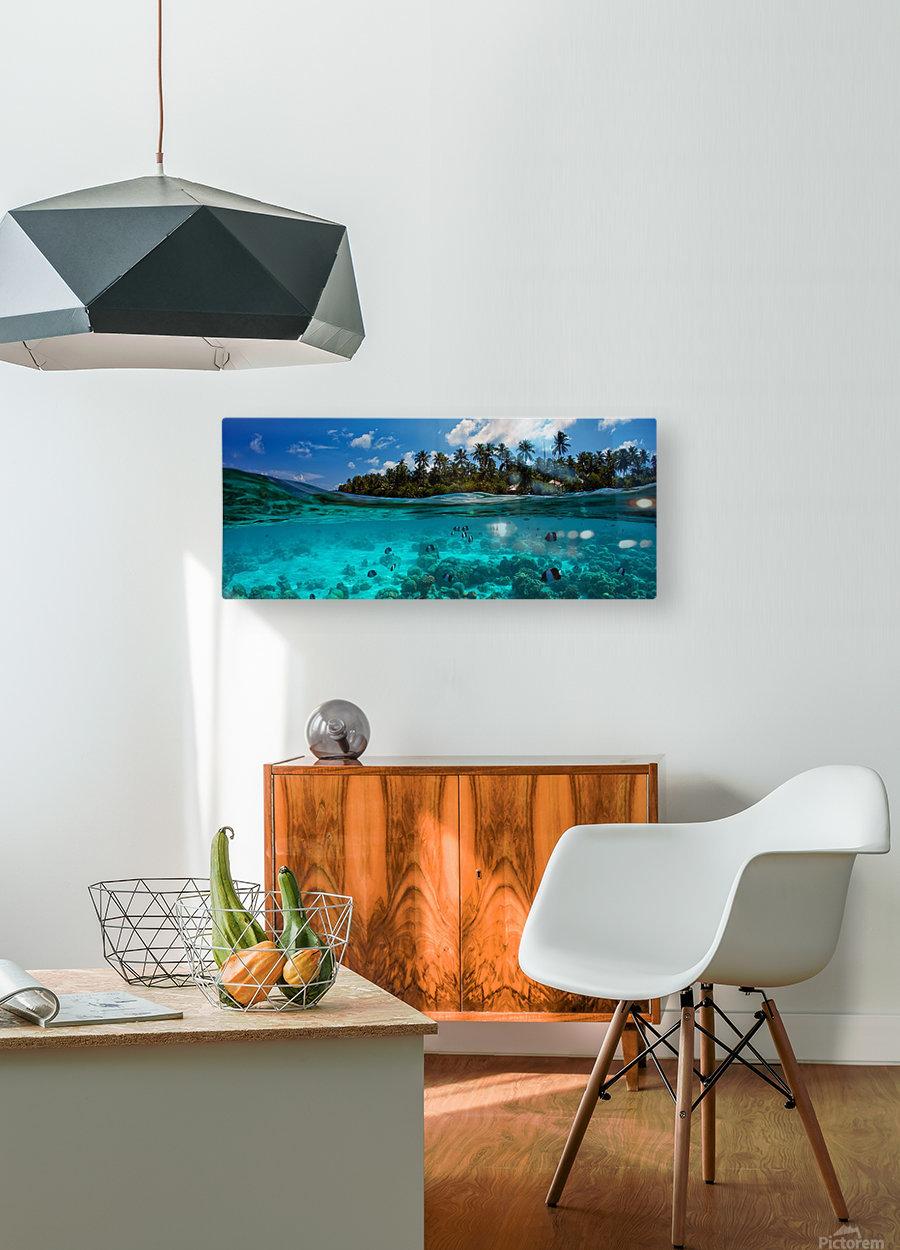 half  HD Metal print with Floating Frame on Back