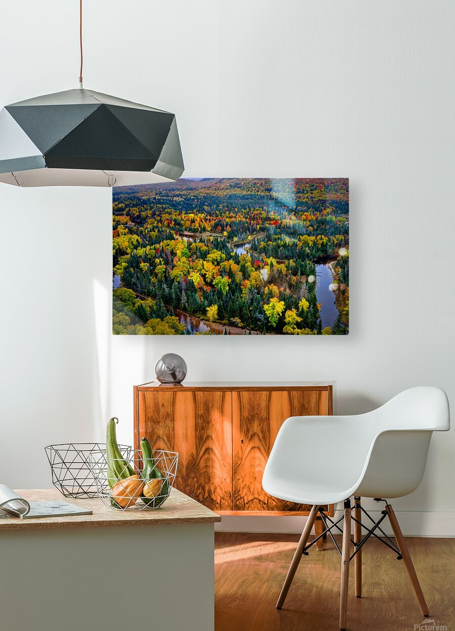 Tremblant  HD Metal print with Floating Frame on Back