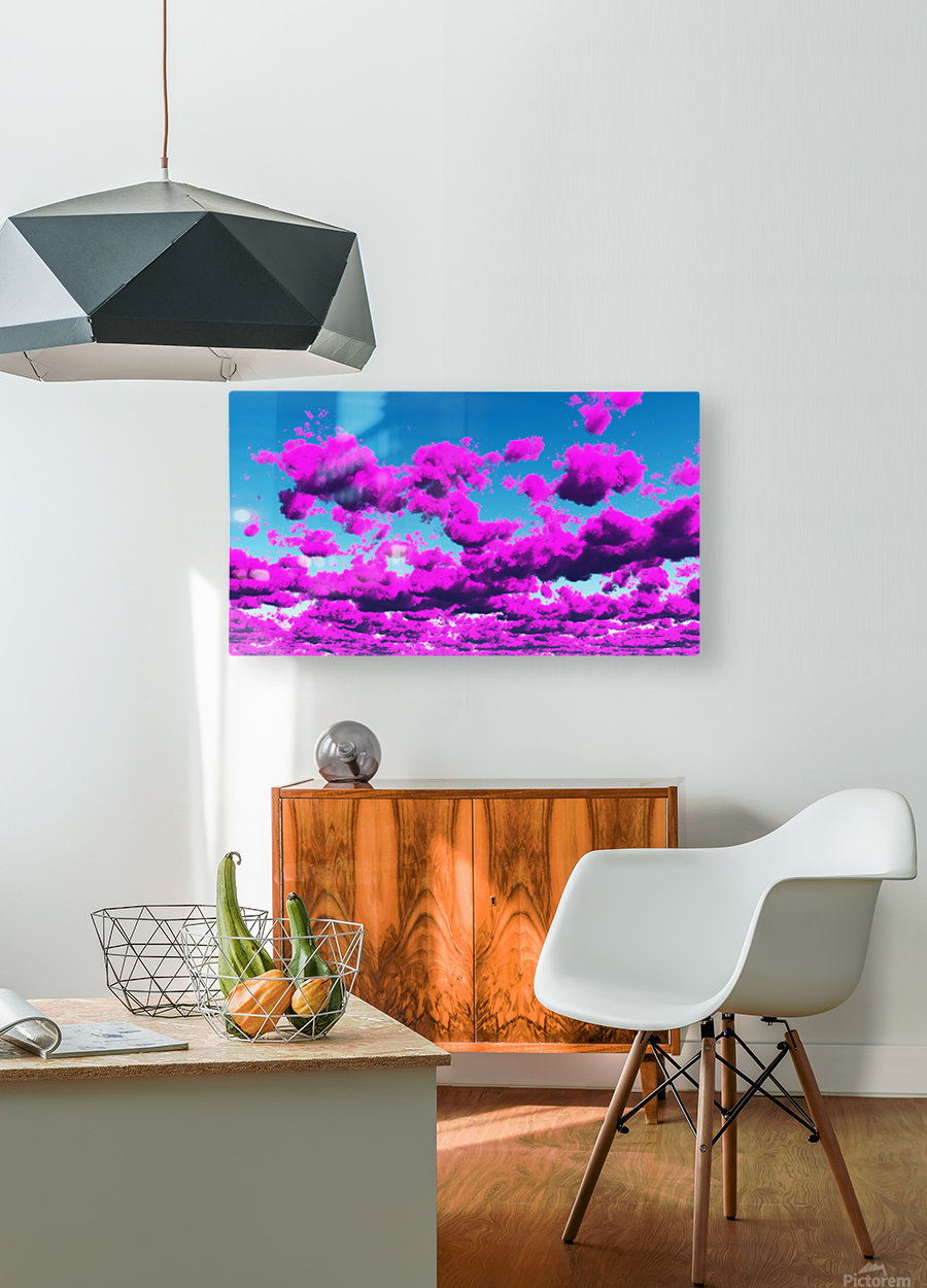 Vivid Purple Cloudscape  HD Metal print with Floating Frame on Back