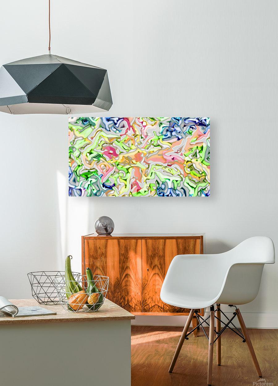 Foopie  HD Metal print with Floating Frame on Back