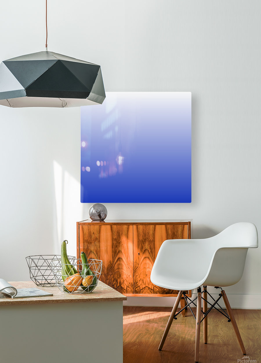 Vishuddha Chakra Blue Ombré   HD Metal print with Floating Frame on Back