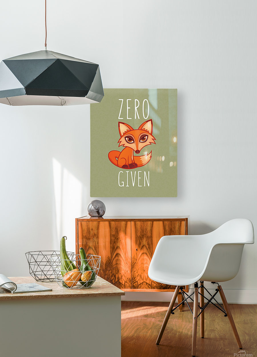 Zero Fox Given  HD Metal print with Floating Frame on Back