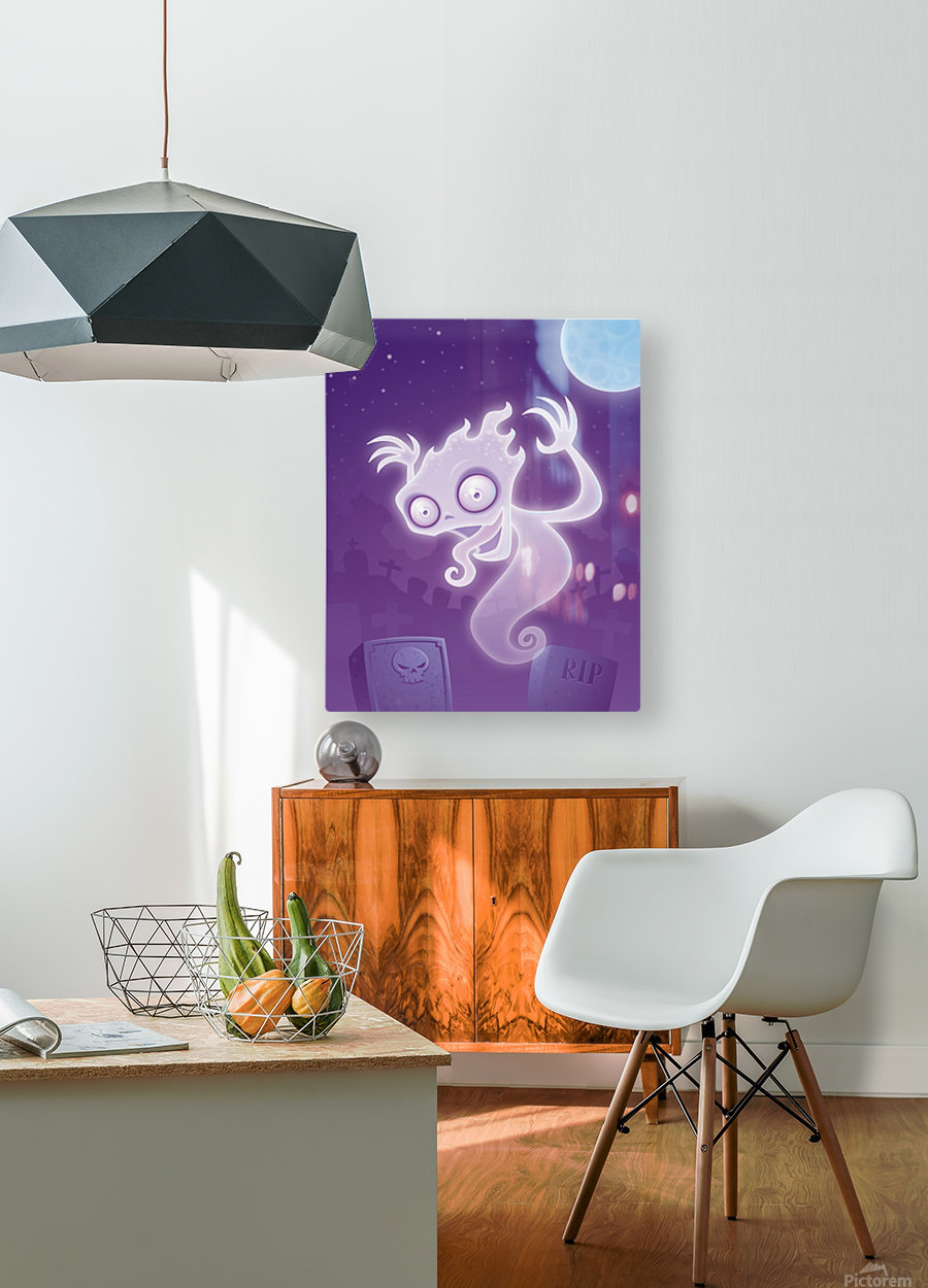 Ghost in the Graveyard  HD Metal print with Floating Frame on Back