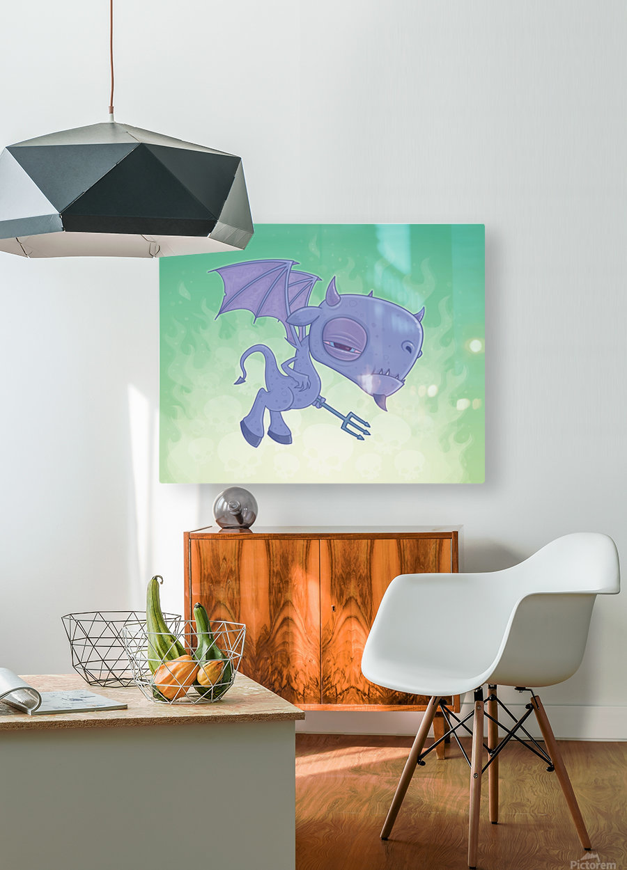 Pitchy  HD Metal print with Floating Frame on Back