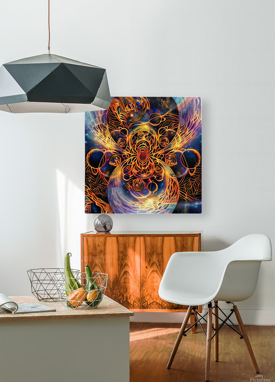 Colorful space  HD Metal print with Floating Frame on Back