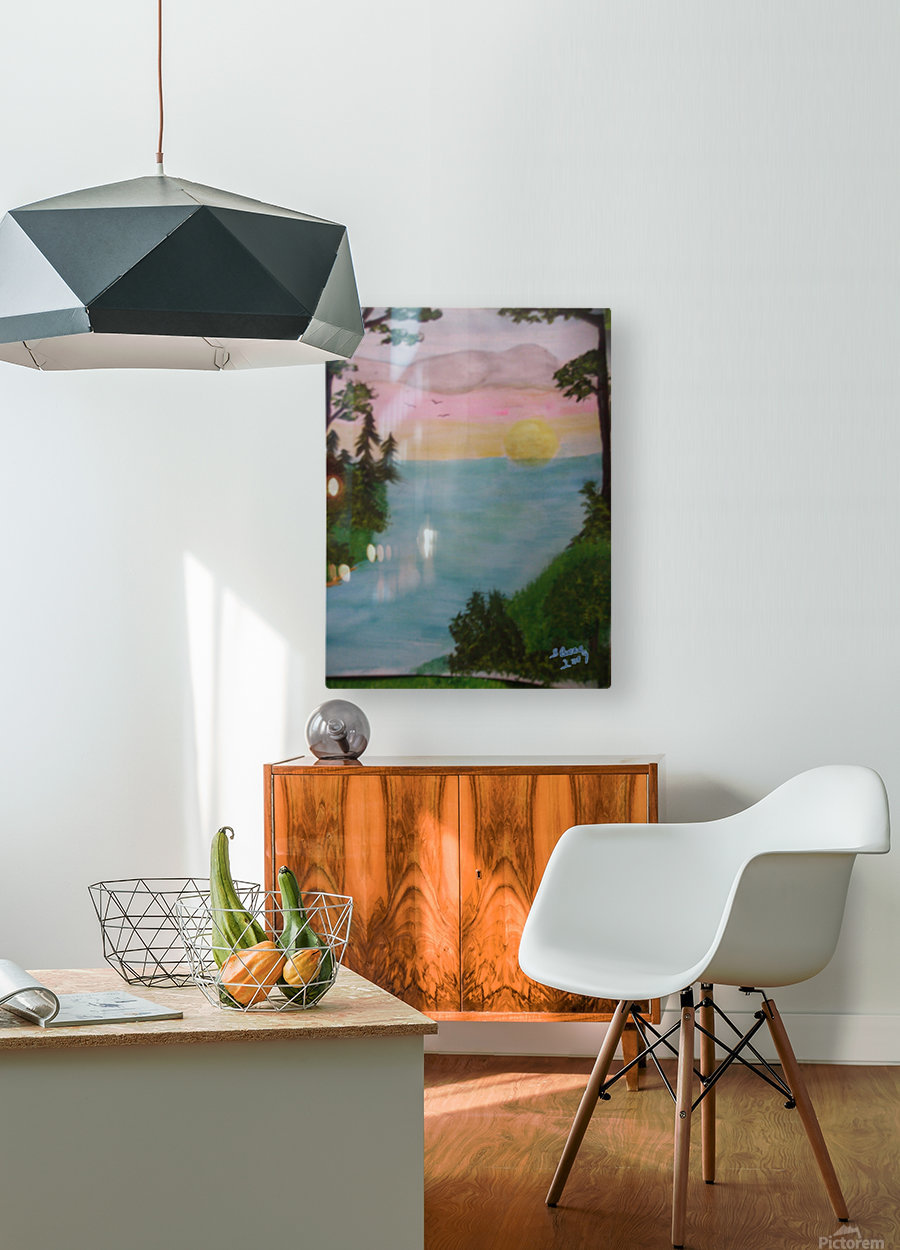 Sunset  HD Metal print with Floating Frame on Back