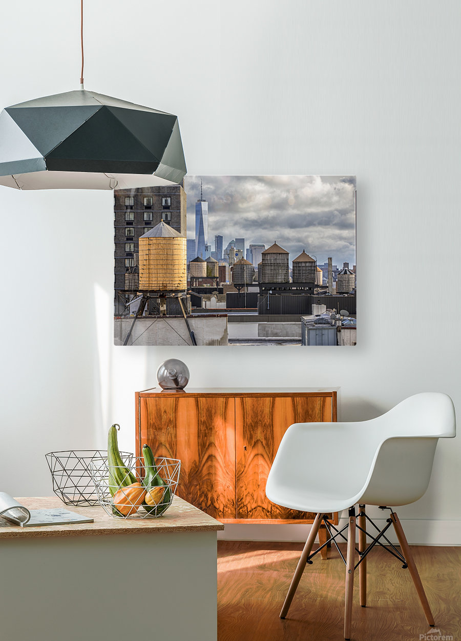 Water Towers   HD Metal print with Floating Frame on Back