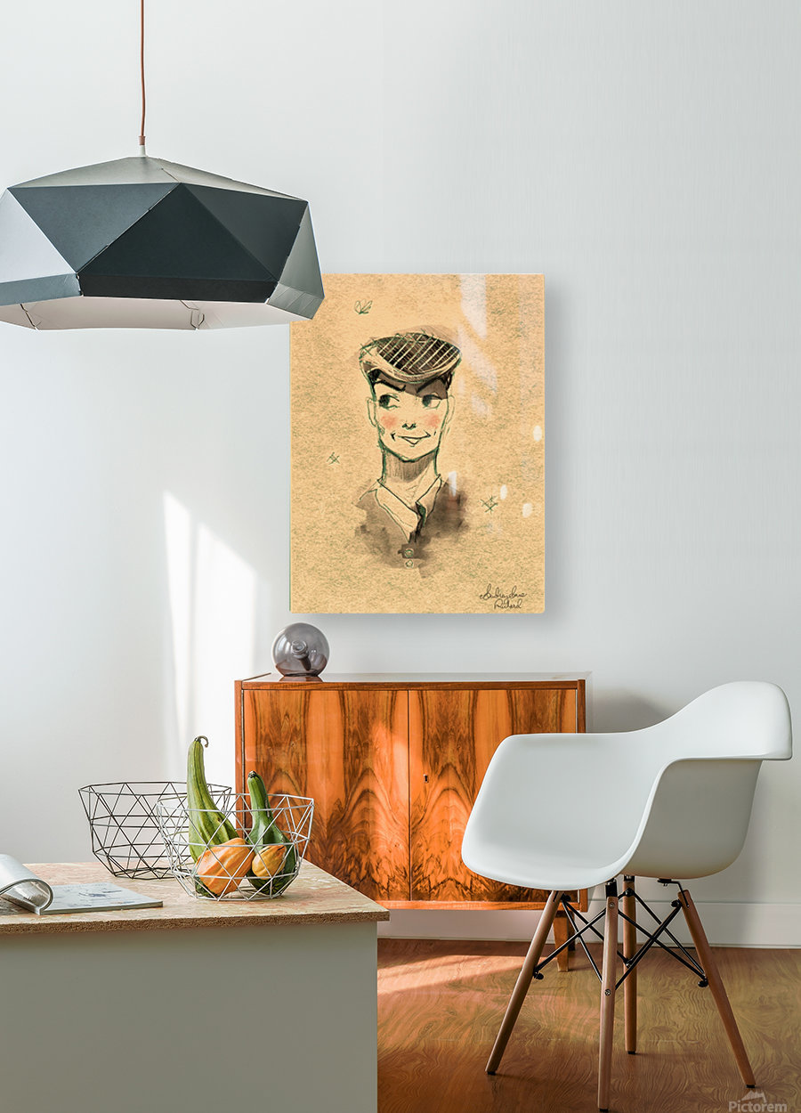 Monsieur  HD Metal print with Floating Frame on Back