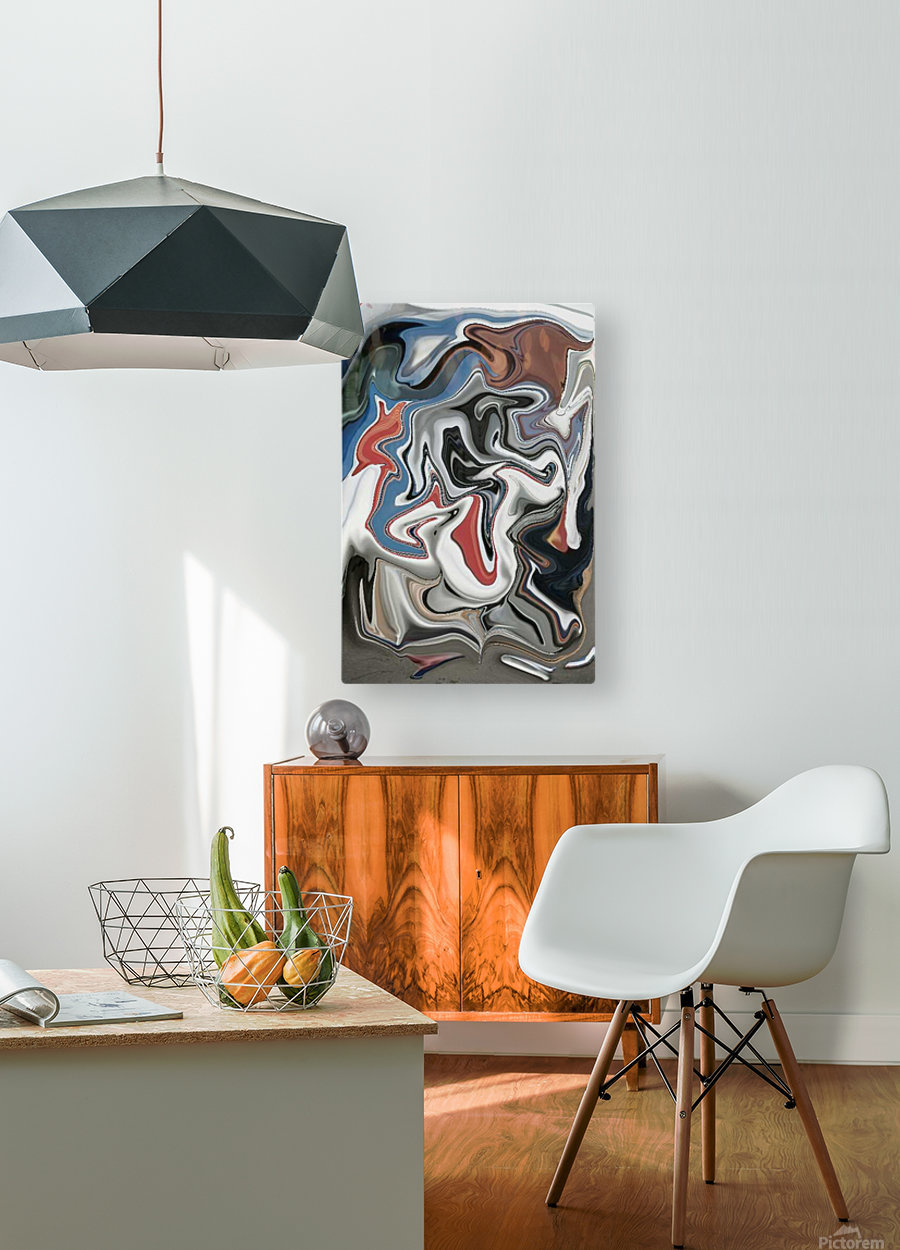 Entrance  HD Metal print with Floating Frame on Back